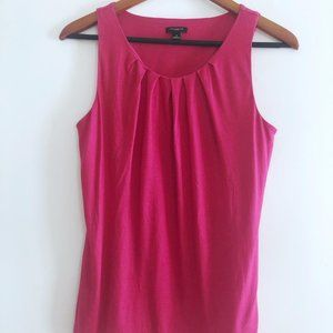Ann Taylor Pleated Front Sleeveless Top